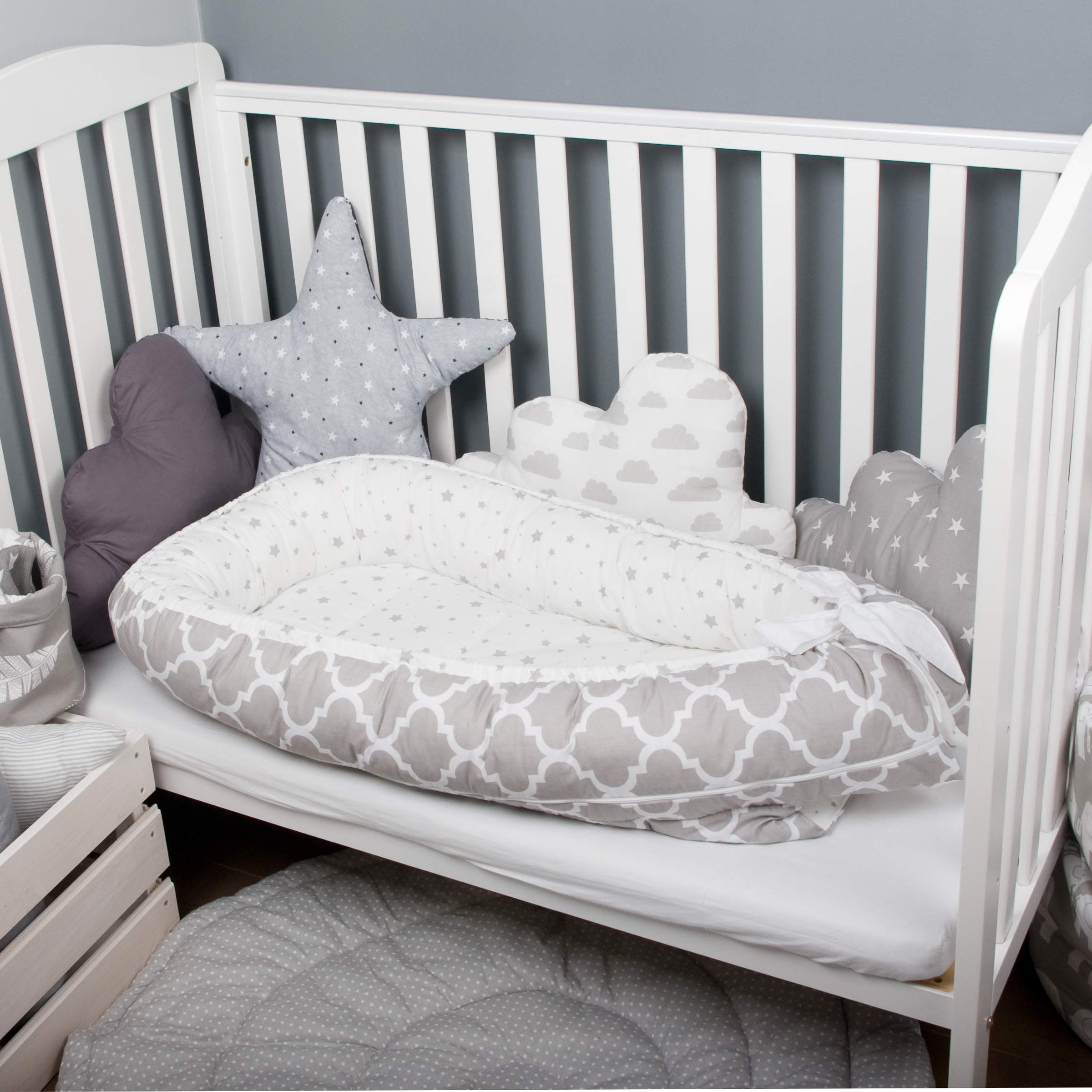Baby nest bed or toddler size nest, marocco portable crib, co sleeper babynest for newborn and toddlers
