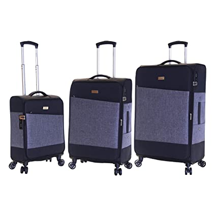 8b1416fb5 Karabar Set of 3 Luggage Suitcases Bags Expandable Lightweight Cabin Medium  and Large with 4 Spinner