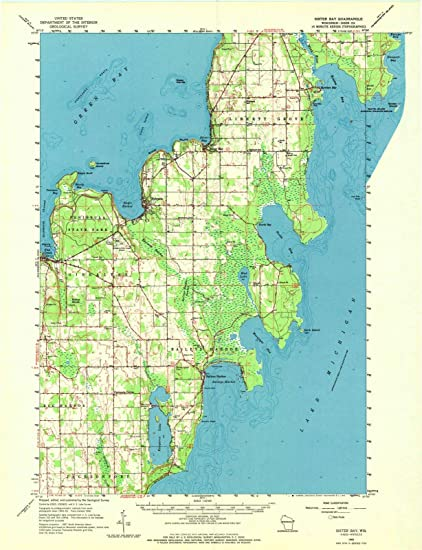 Amazoncom Wisconsin Maps 1960 Sister Bay Wi Usgs Historical - Wisconsin-on-map-of-us