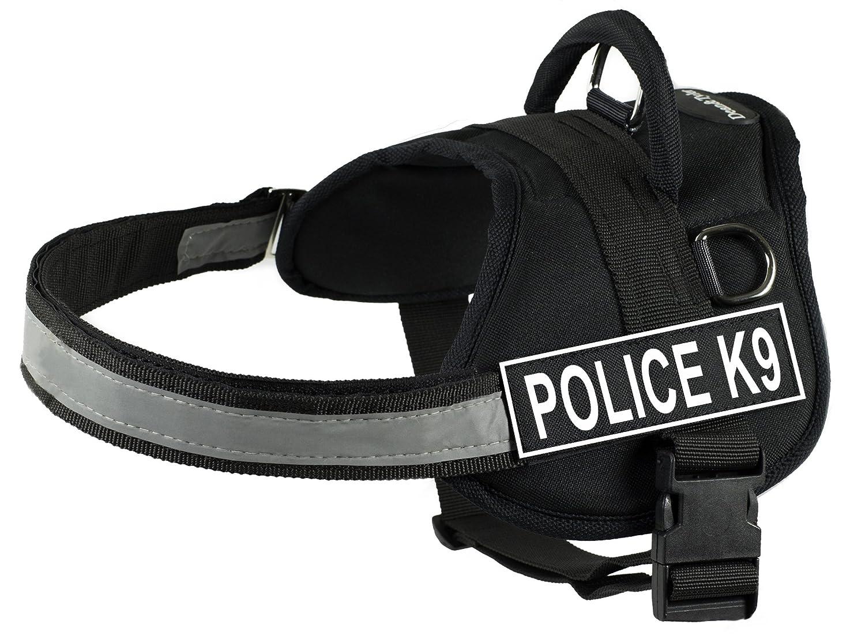 Medium Dean & Tyler DT Works Police-K9 Harness, M, Black  White