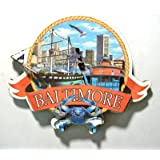 Baltimore Maryland Montage Artwood Fridge Magnet