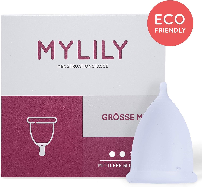 Copa menstrual MYLILY® | 100% silicona médica | libre de BPA y látex | ecológico, sostenible y económico | elección de 5 tamaños de vaso