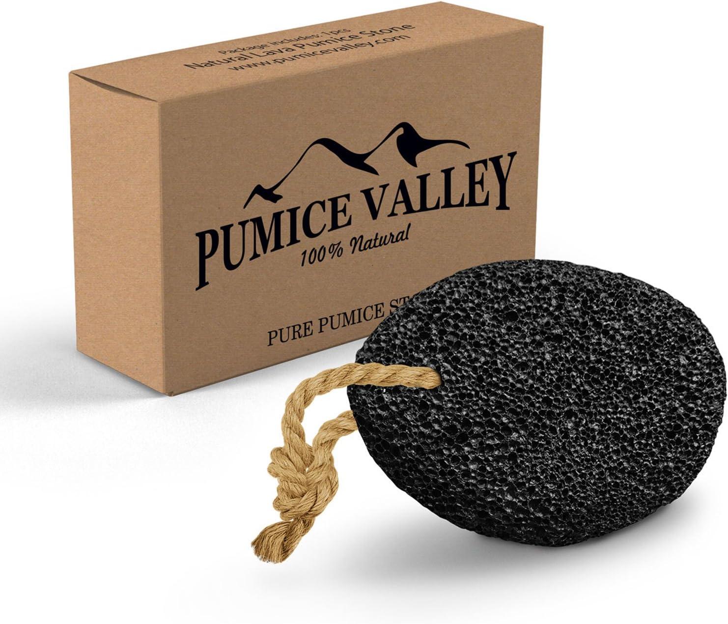 Pumice Stone - Natural Earth Lava Pumice Stone Black - Callus Remover for Feet Heels and Palm - Pedicure Exfoliation Tool - Corn Remover - Dry Dead Skin Scrubber - Health Foot Care: Health & Personal Care