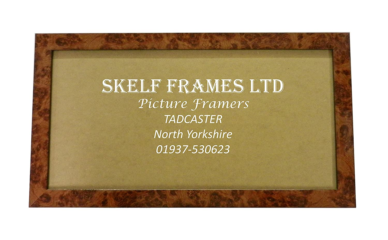 "16"" x 6"" PANORAMIC PICTURE PHOTO POSTER FRAME WITH GLASS (WALNUT) Skelf Frames Ltd"