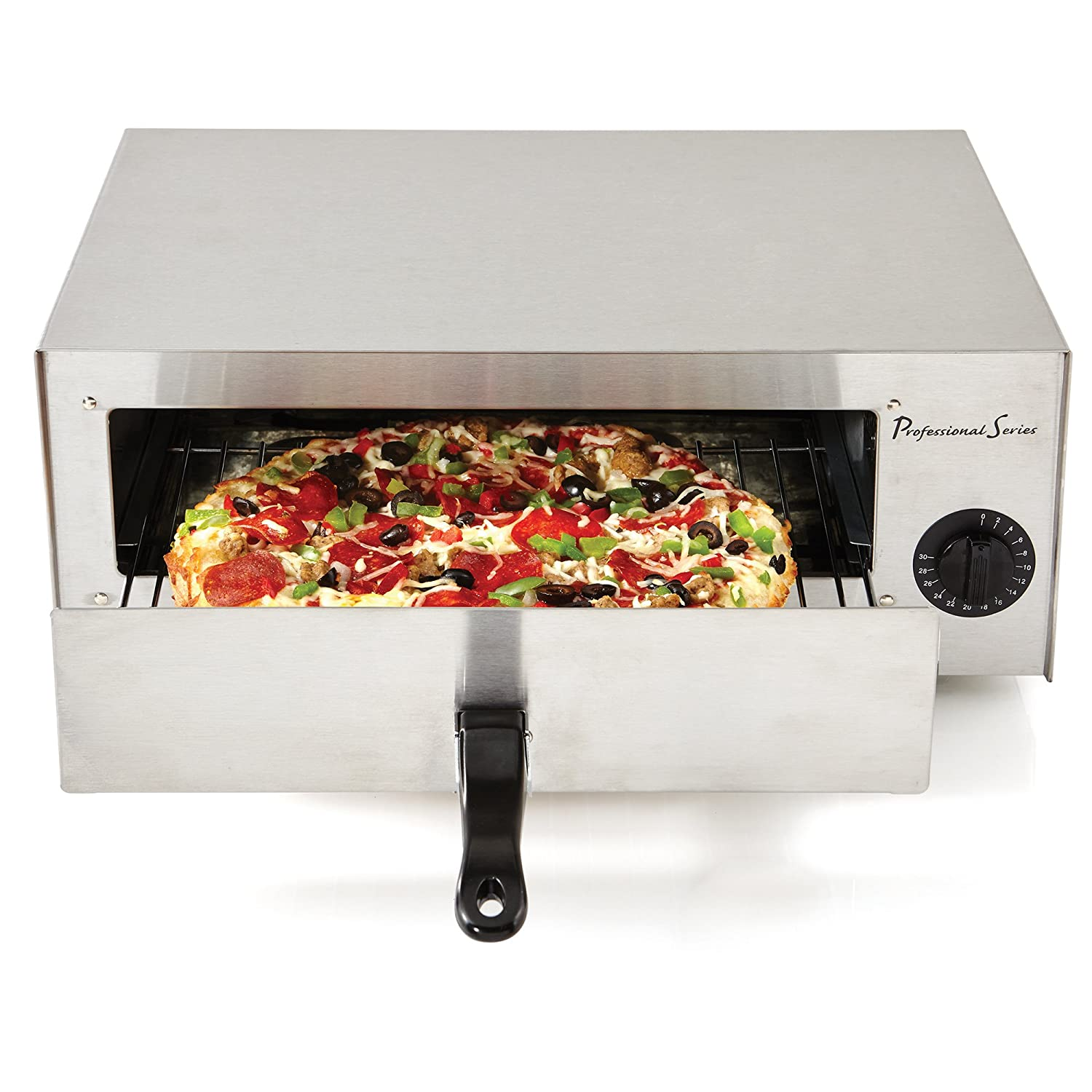 Continental Electric PS-PO891 Professional Series Pizza Oven, Countertop, Stainless Steel