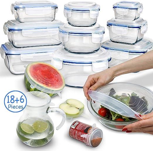 Amazon.com: 24 recipientes de almacenamiento de alimentos de ...