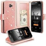 Huawei Ascend XT2 H1711 Case, SOGA [Pocketbook Series] PU Leather Magnetic Flip Design Wallet Case for Huawei Ascend Xt2 H1711, Huawei Elate 4g - Rose Gold Glitter