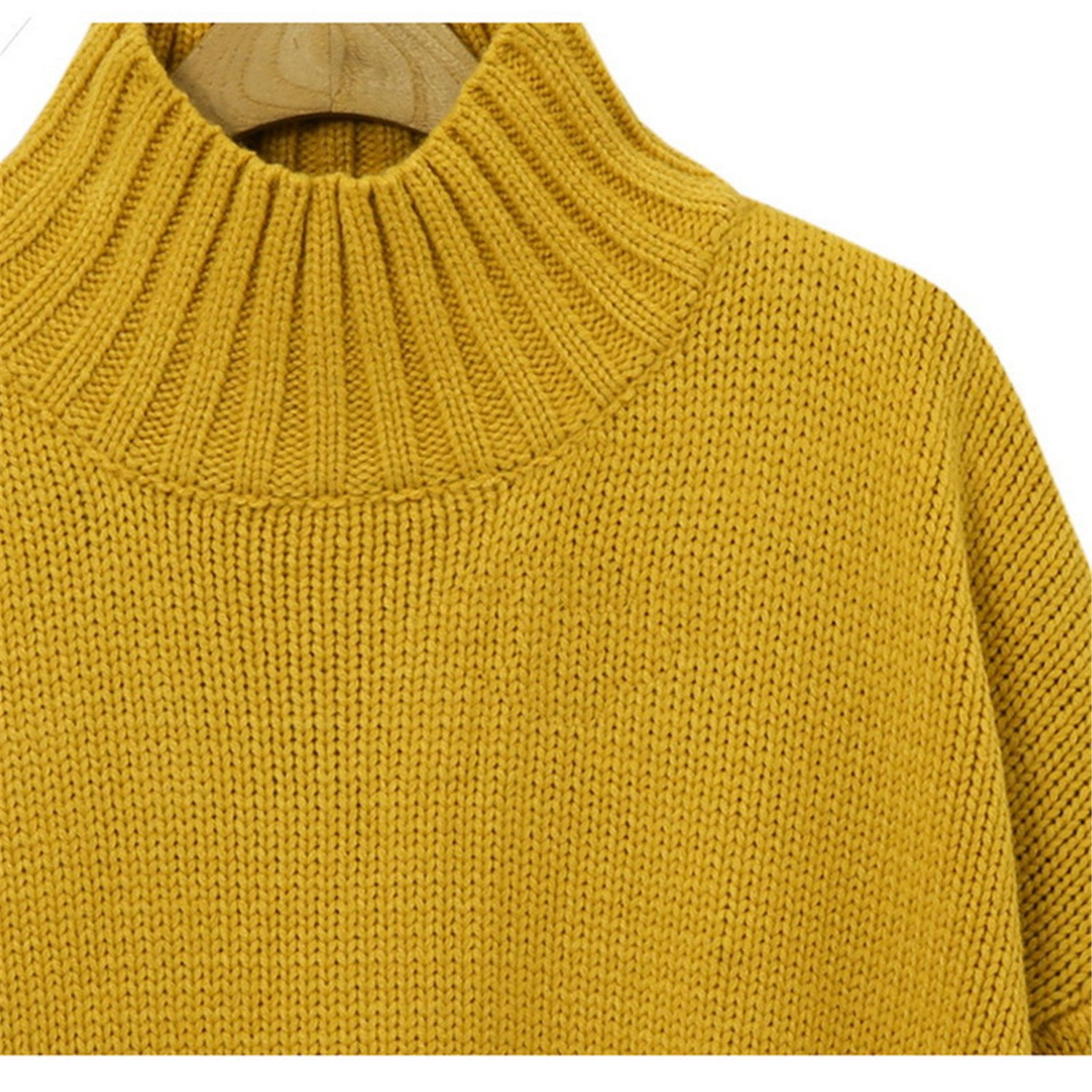 Plus Size Yellow Sweater Girls Xl 3Xl Woman Pullover Autumn Long Sleeve Tops Sweaters Pullovers