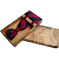 Blacksmith Maroon Formal Tie, Bowtie, Cufflink, Pocket Square Set for Men