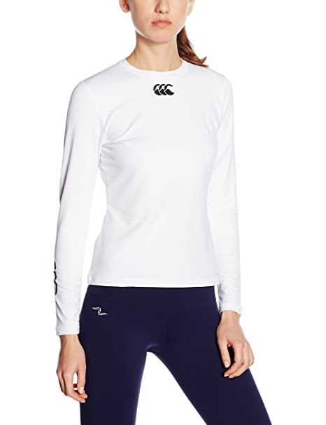 Canterbury - Camiseta interior deportiva para mujer (térmica, cuello alto, manga larga), color blanco, talla xx-large: Amazon.es: Deportes y aire libre