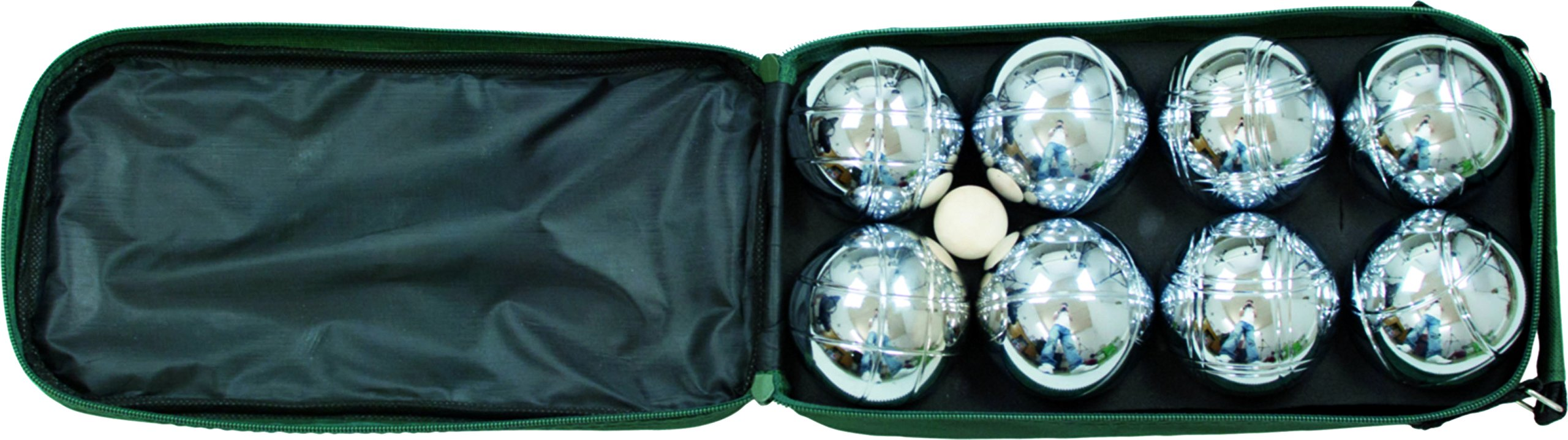 John N. Hansen Classic Game Collection 8 Ball 73mm Bocce/Boules Set with Canvas Storage Case product image