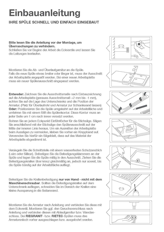 Rieber /Évier E 86 K kiesel m/étallique 72010976