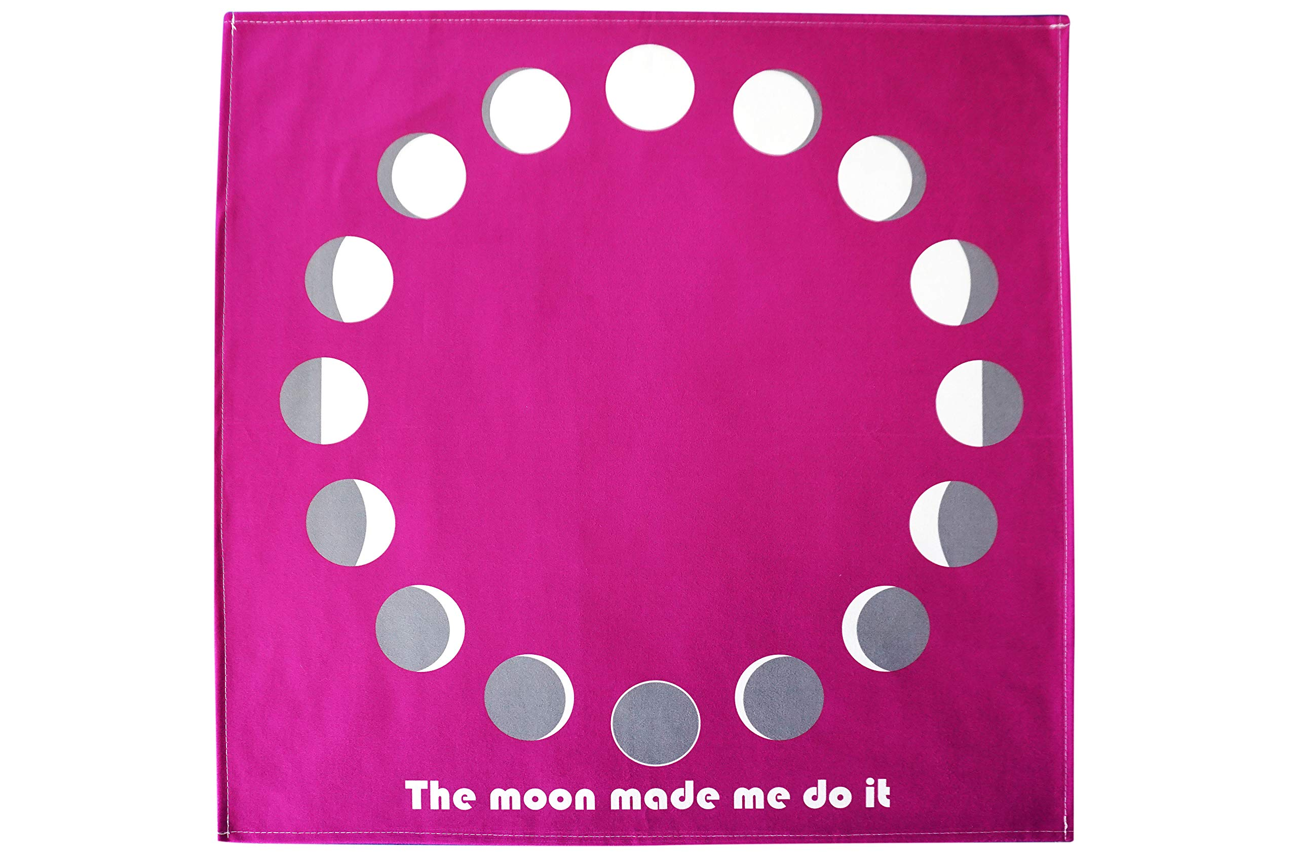 Moon Phases Altar Tarot Cloth (Large, 24 inches x 24 inches) (Purple)