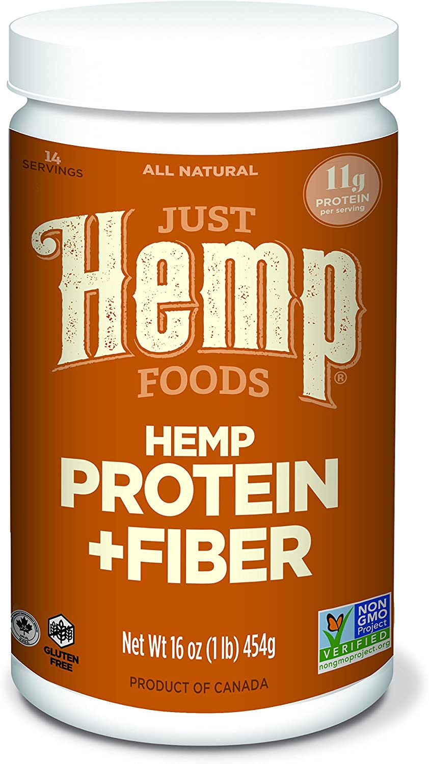 Just Hemp Foods Hemp Protein Powder Plus Fiber, Non-GMO Verified with 11g of Protein & 11g of Fiber per Serving, 16 oz - Packaging May Vary: Health & Personal Care