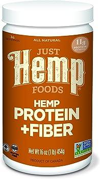 Just Hemp Foods Hemp Protein Powder Plus Fiber, 16 oz