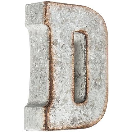 Amazon.com: Galvanized Metal 3D Letter D: Home & Kitchen
