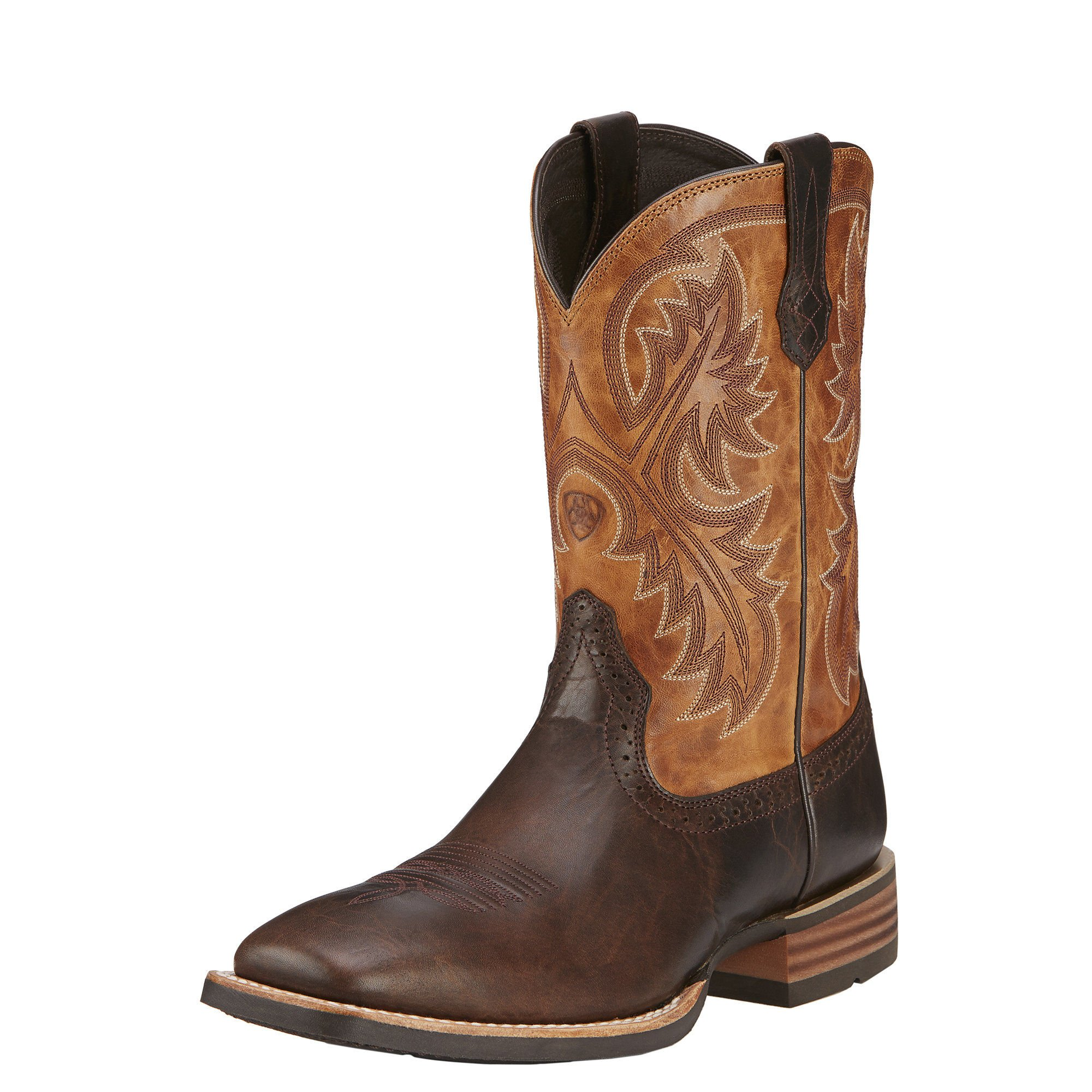 Ariat Men's Quickdraw Western Cowboy Boot, Thunder Brown/Two Tone Tan, 13 D US