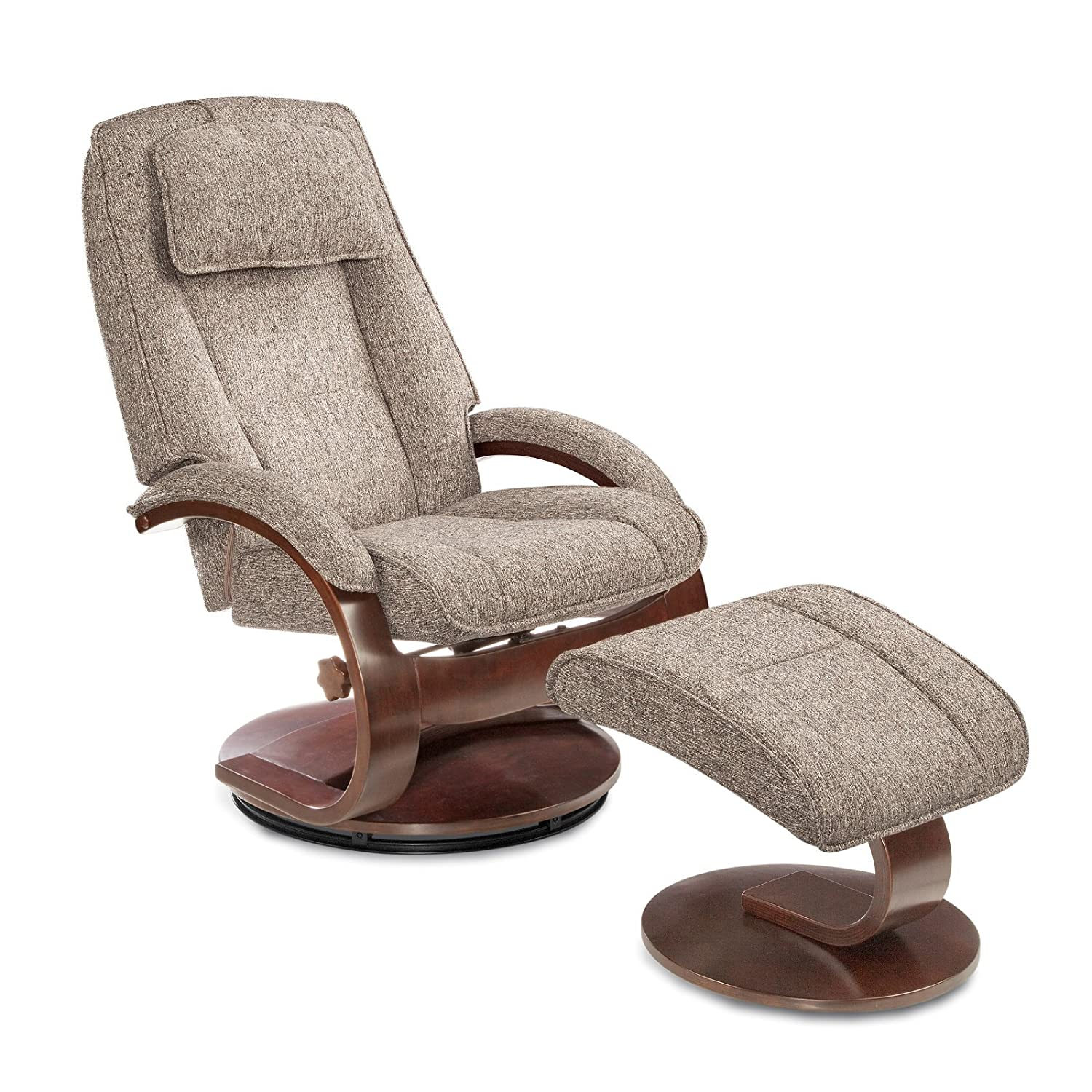 Amazon Teatro Fabric Recliner with Ottoman in Tan Kitchen