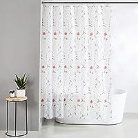 Amazon Brand - Solimo Cerise 100% PEVA Shower Curtain, 72 inch x 79 inch, White