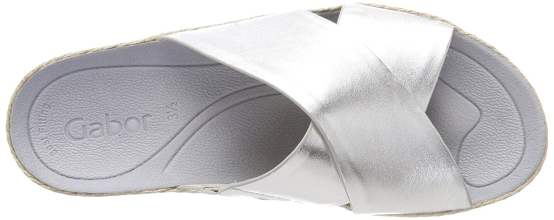 Gabor Damen Jollys Pantoletten Mehrfarbig Mehrfarbig Pantoletten (Silber) 6fae36