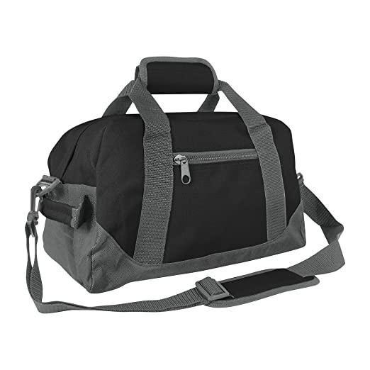 50571b4fb513 DALIX 14 quot  Small Duffle Bag Two Toned Gym Travel Bag (Black ...