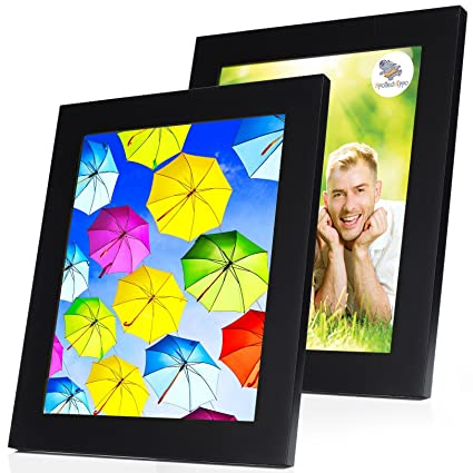 Amazon 8x10 Picture Frame Collage Set Of 2 Black Wood Frames