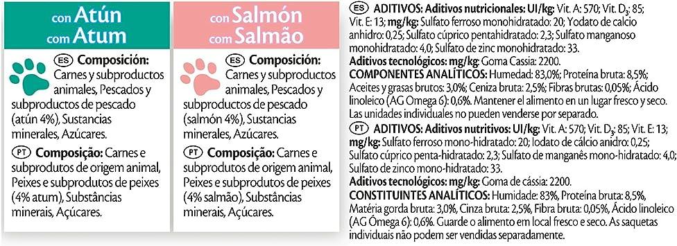 Purina Felix Gelatina comida para gatos con surtido de pescados 10 x [4 x 100 g]