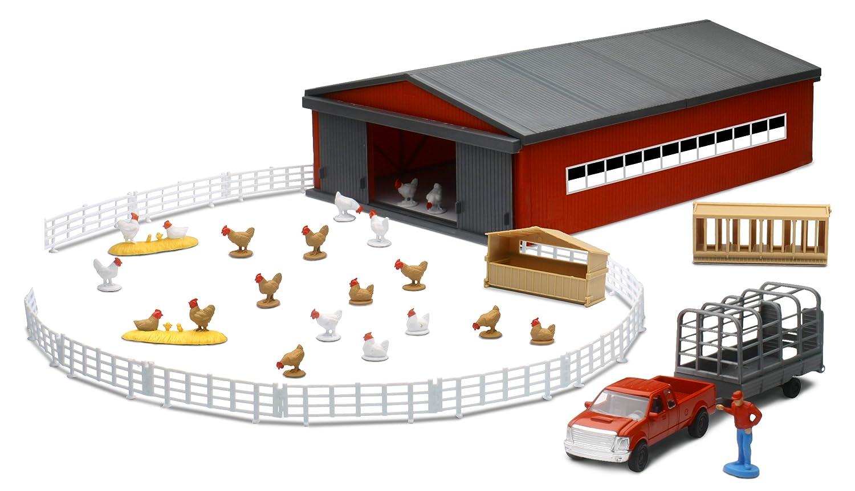 Chicken Farming Playset w// Shed Newray