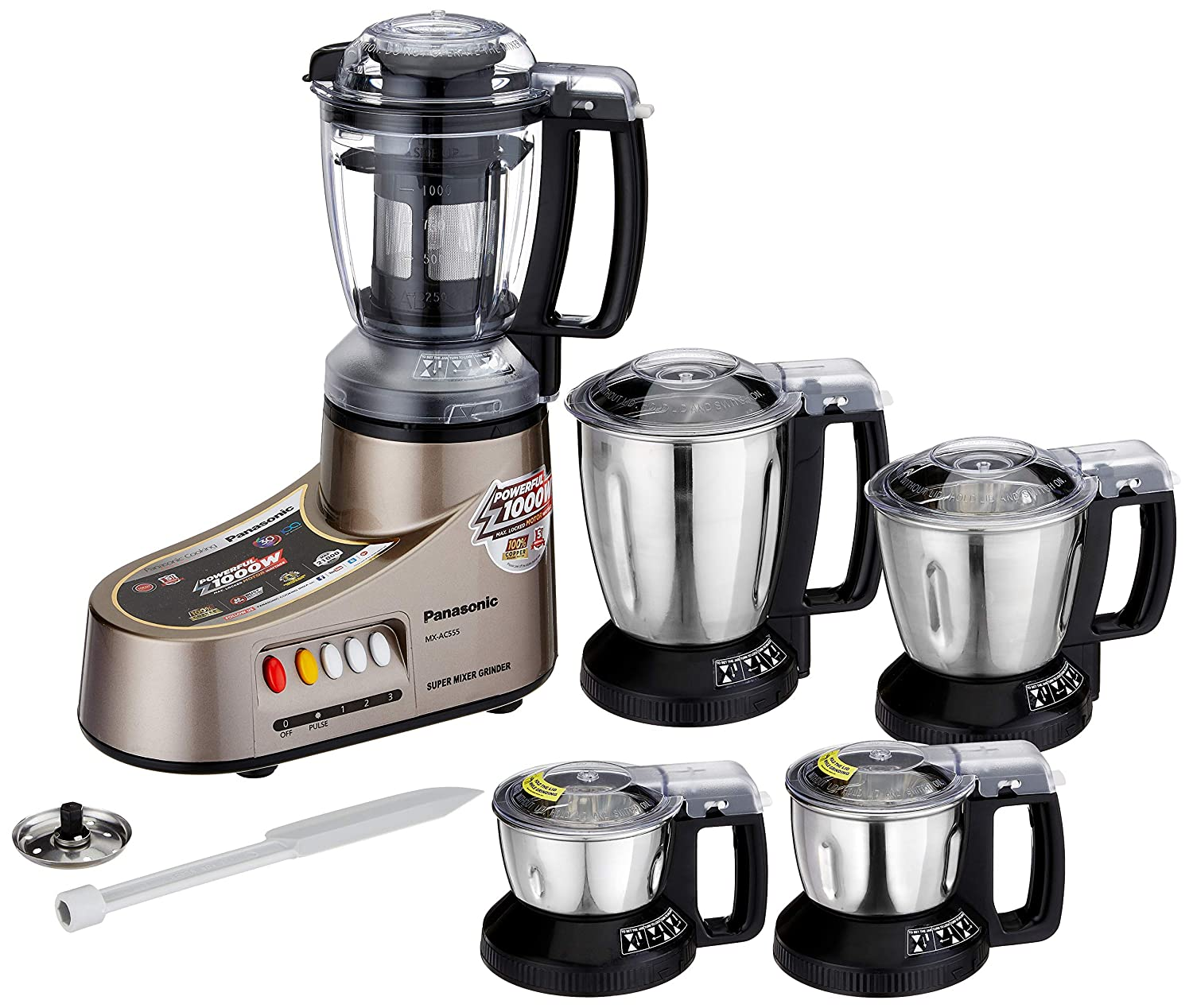 Buy Panasonic Mx Ac555 New 550 Watt Mixer Grinder With 5 Jars Wiring Devices Philippines Bronze Online At Low Prices In India