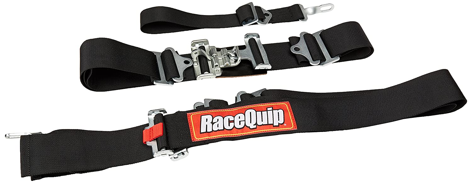 RaceQuip 711001 Black SFI 16.1 Latch and Link 5-Point Safety Harness Set with Individual Shoulder Belt by RaceQuip