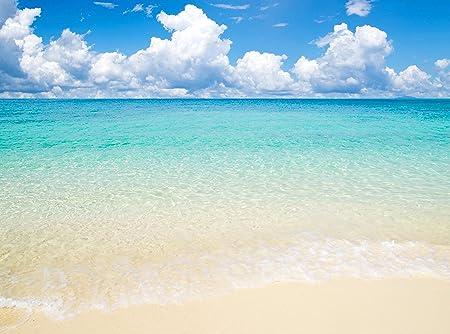 Foto Sfondo Murale Sole Mare E Spiaggia Size 350x260cm Decorazione