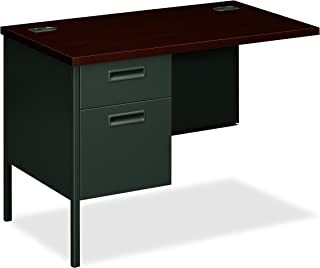 """product image for HON Metro Classic Charcoal Finish Laminate Left Return with 1 Box/1 File Drawer, 42""""W, Mahogany"""