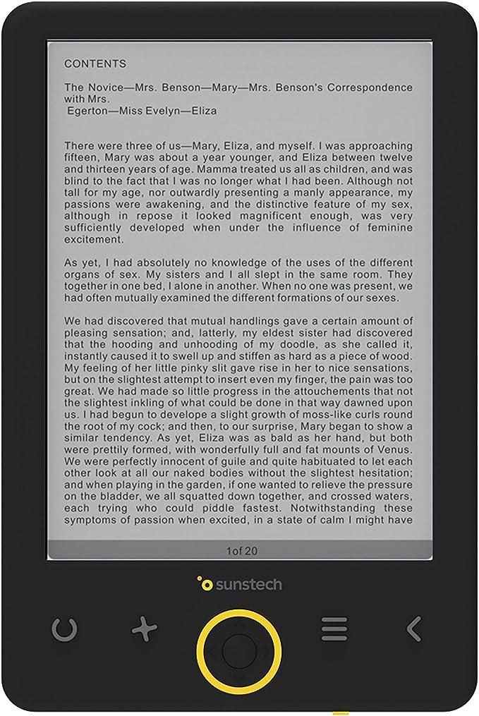 Sunstech EBI8 - Libro electrónico de 6