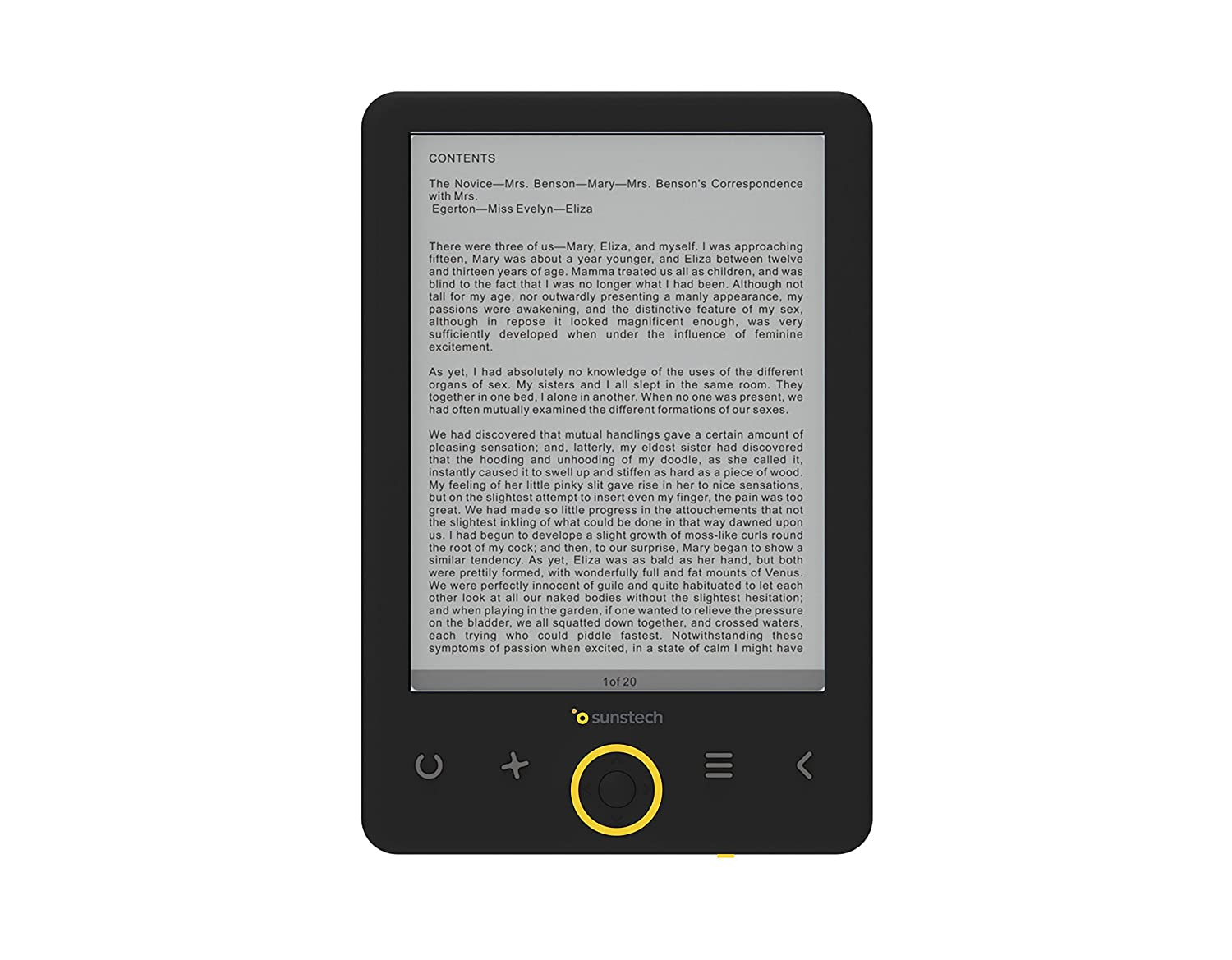 "Sunstech EBI8 - Libro electrónico DE 6"" (8 GB, USB), Color Negro EBI8BK"