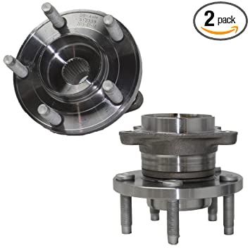Rear Wheel Hubs /& Bearings Pair Set for Ford Edge MKX FWD 2WD