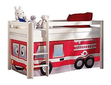 Vorhang Etagenbett Feuerwehr : Vipack picohszg spielbett pino mit textilset feuerwehr maße