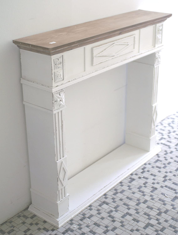 Marco para chimenea, chimenea de consola de estilo barroco ...