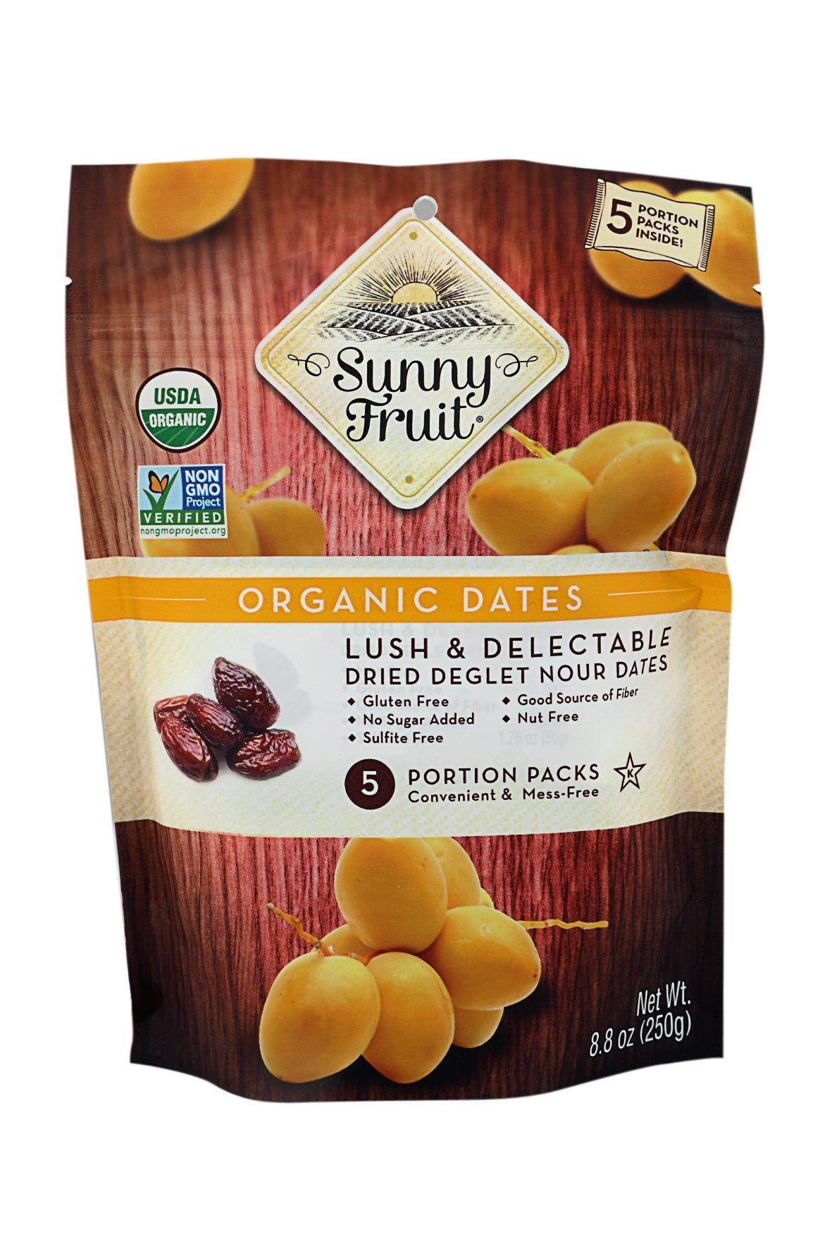 Sunny Fruit Tasty & Healthy Organic Dates 8.8 oz 2 Pack