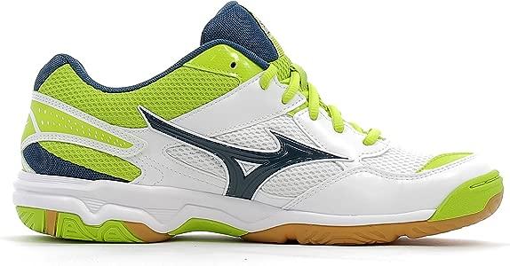 Mizuno Chaussures Wave Twister 4 Blanc/Bleu/Vert: Amazon.es ...