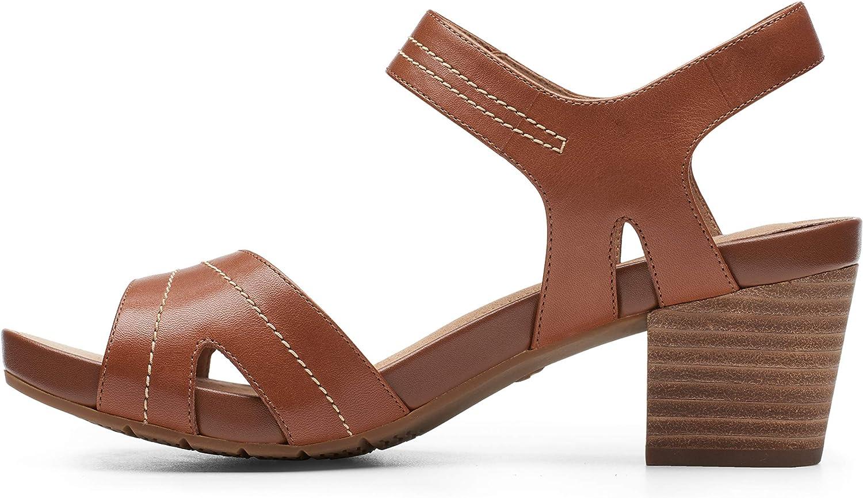 Clarks Un Palma Vibe Sandalo da donna Mogano sceT92