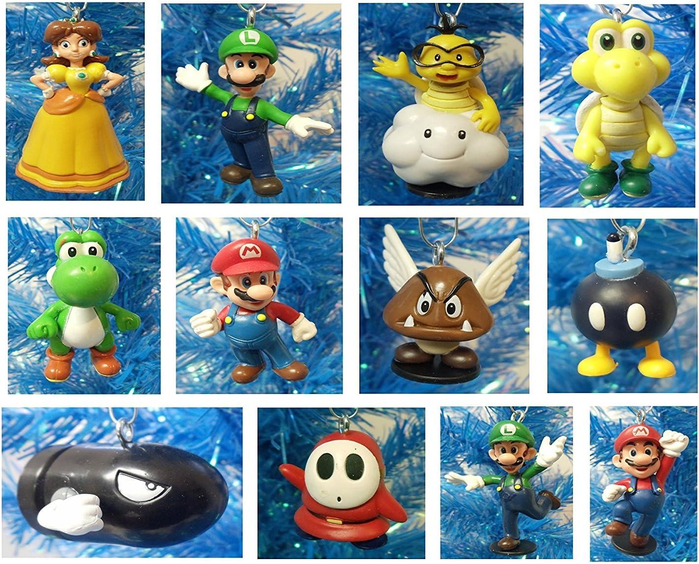 Amazon Com Super Mario Brothers 12 Piece Holiday Christmas