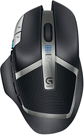 Logitech G602 - mice (RF Wireless, Batteries, Gaming, Black, Grey