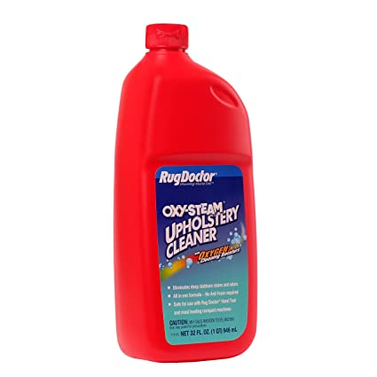 Amazon.com: Rug Doctor Oxy-Steam Upholstery Cleaner Solution, Deep Cleans and Extracts Stains and Dirt from Upholstery and Soft Surfaces, 32 oz.