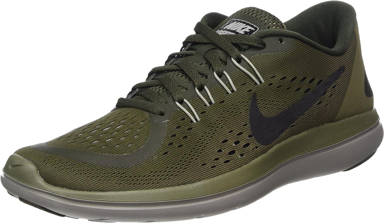 Nike Flex 2017 Run, Zapatillas de Running para Hombre, Multicolor (Sequoia/Black/Medium Olive/Dust 300), 45 EU: Amazon.es: Zapatos y complementos