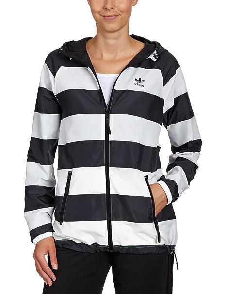 Adidas Veste Vent Coupe Noir Réversible Rayures Femme 36 Pour qCUqr