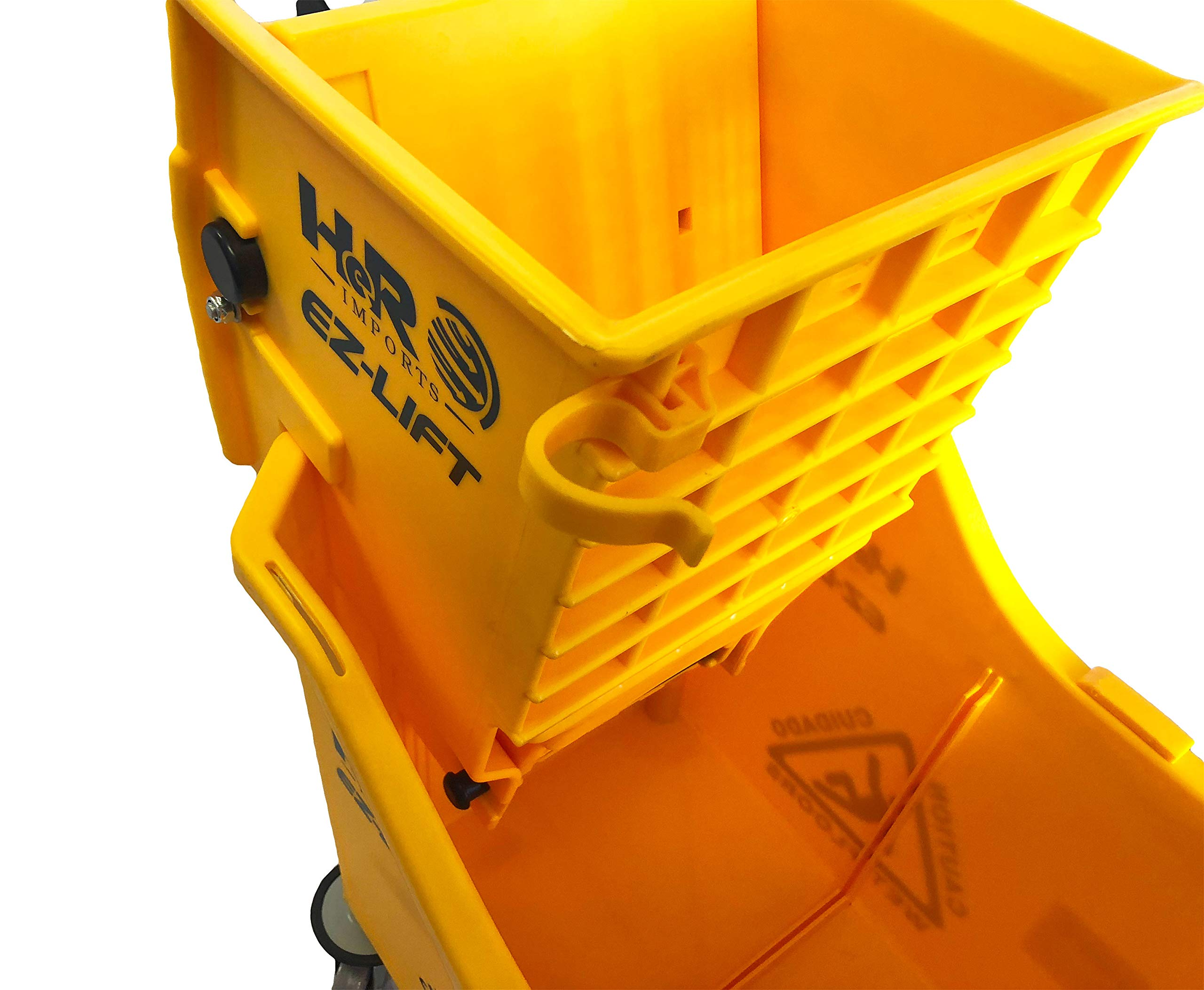 Hero EZ-LIFT Dual Cavity Commercial Mop Bucket with Wringer on Wheels, includes Dirty Water Bucket (36-Quart   9 Gallon Cleaning Bucket) by HERO IMPORTS (Image #8)
