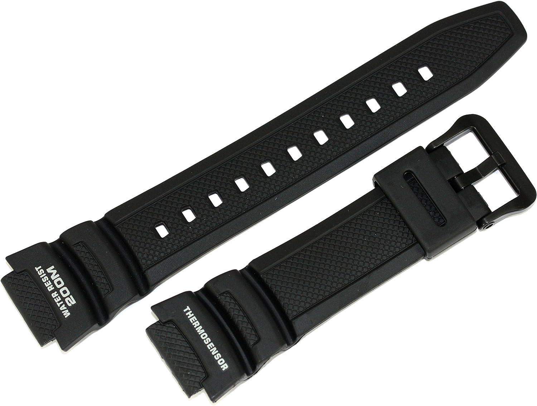 Casio 10314483 - Correa de reloj de resina, repuesto original de fábrica compatible con AQW-101-1A, AQW-101-1AV