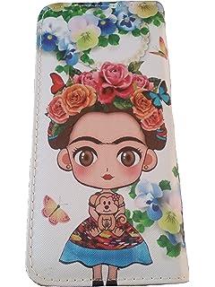 Amazon.com: Frida Kahlo – Floral Series cierre doble cartera ...