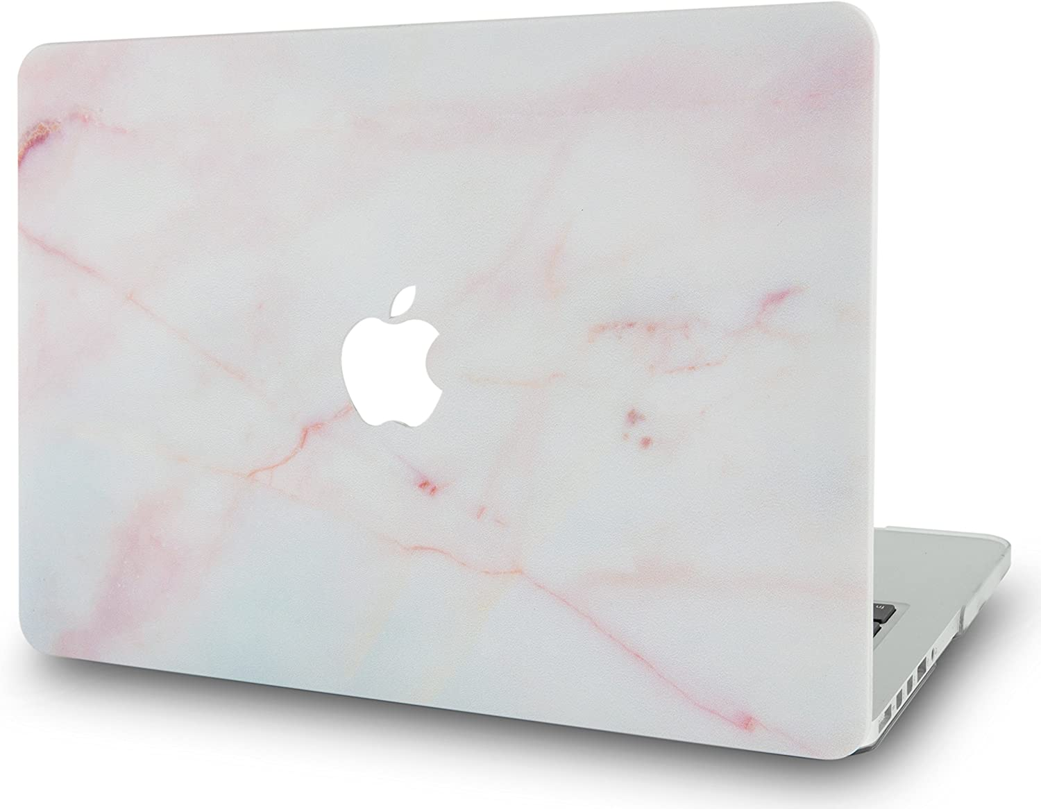 LuvCase Laptop Case for MacBook Air 13 Inch A1466 / A1369 (No Touch ID) Rubberized Plastic Hard Shell Cover (Pink Marble)