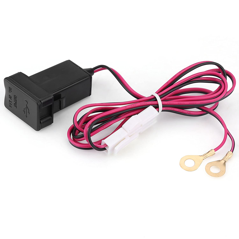 Supporto per cruscotto con presa per adattatore per caricatore di corrente a doppia porta USB da 5V 3.1A per 12-24V